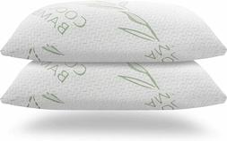 2 Pack Bamboo Memory Foam King Queen Bed Pillow Cool Hypoall