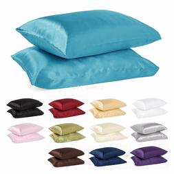 2 Piece LinenPlus Collection Satin Pillow Case Available All