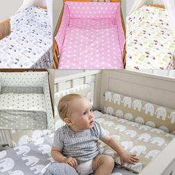 7 Pcs Baby Nursery Bedding Set GIRLS or BOYS Fit to COT BED