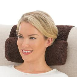 adjustable neck roll plush support pillow