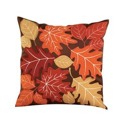 Collections Etc Autumn Leaves Accent Pillow Cover