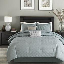 BEAUTIFUL MODERN CONTEMPORARY CHIC BLUE SILVER GREY COMFORTE