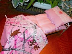 """Bed +Bedding Set For Barbie and other 12"""" Dolls"""