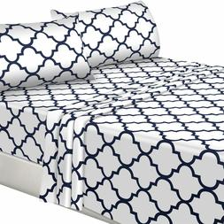Bed Sheet Set with Pillow Case Microfiber Also in Pack of 10