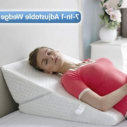 Bed Wedge Pillow Exclusive 7-in-1 Incline and Positioner Mem