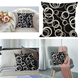 Black Circle Pillow Covers By Hgod Designs White Gray And Bl