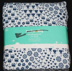 Pillowfort Blue Fetching Florals Full Sheet Set polyester bl