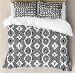 Contemporary Duvet Cover Set Twin Queen King Sizes with Pill