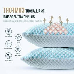 🥇Cooling Memory Foam Pillow Ventilated Pillow - Infused C