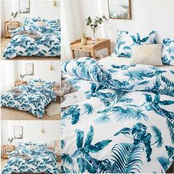 Deluxe Soft Quilt Duvet Cover with Pillow Case Bed Linen Bed