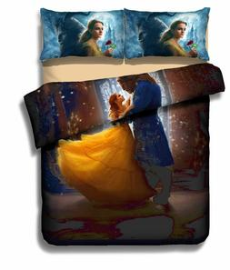 Disney Beauty and the Beast Bedding Quilt/Duvet Cover and Pi