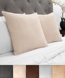 Sweet Home Collection Faux Suede Decorative 18 x 18 Throw Pi