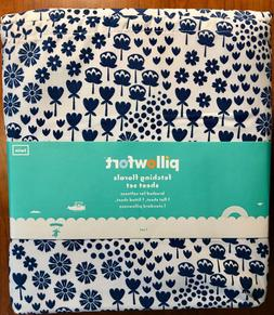 Pillowfort Fetching Florals 3 Piece TWIN Sheet Set NEW WITH
