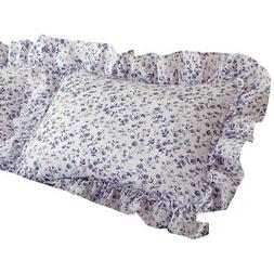 Floral Plisse Ruffled Edge 2 Piece Pillow Sham Set