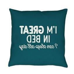 CafePress Great In Bed Everyday Pillow