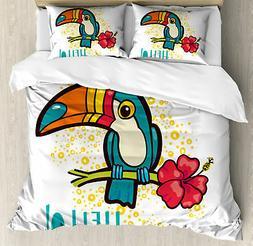 Hello Duvet Cover Set Twin Queen King Sizes with Pillow Sham