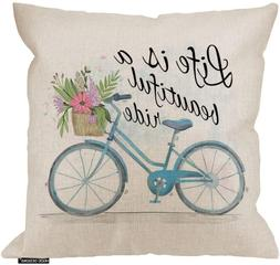 HGOD DESIGNS Pillow Cover,Life is a Beautyful Ride Throw Pil