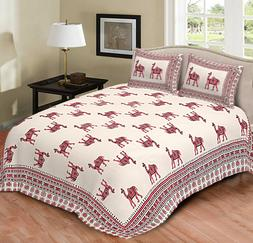 Indian Cotton Bedspread Handmade Bed Cover Tapestry Mandala