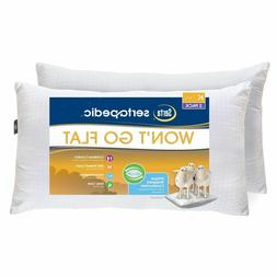 King Size Won't Go Flat Bed Pillows Set Of 2 Hypoallergenic