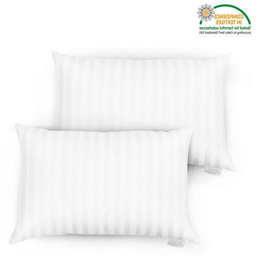 2 x down bed pillows feather pillow