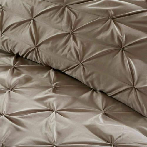 24pc Brown Tufted Comforter Set, Curtains More