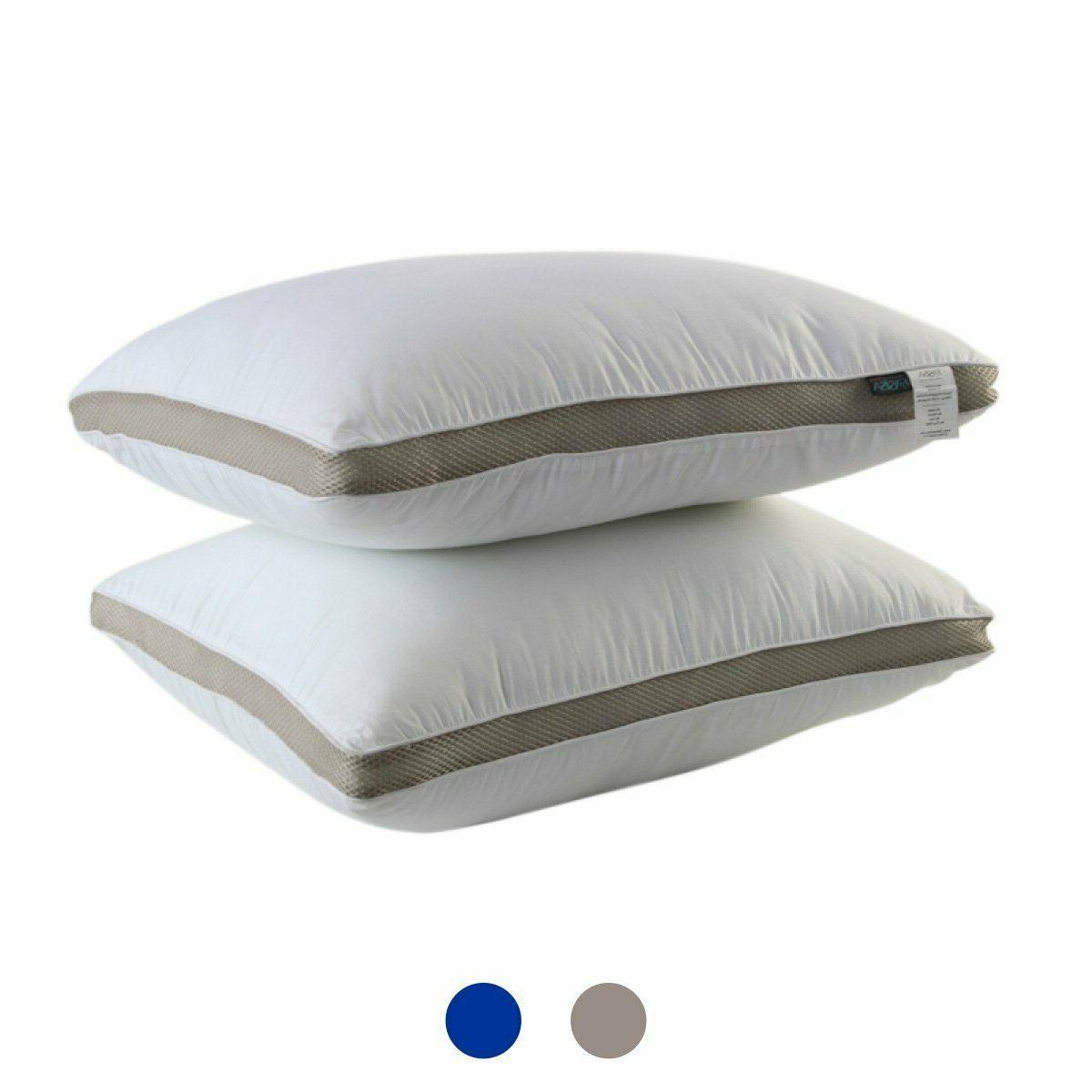 2pack gusseted pillows neck support side back