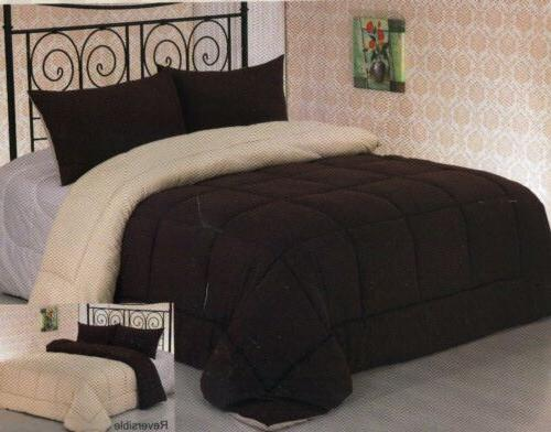 3pc down alternative reversible comforter with pillow