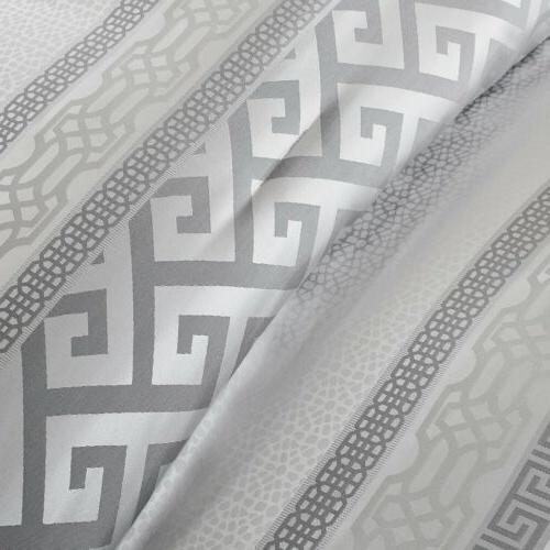 7pc Charcoal Silver Geometric Comforter AND Decorative