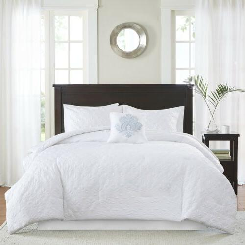 Beautiful 5pc Quilted Comforter Set Decorative Pillow