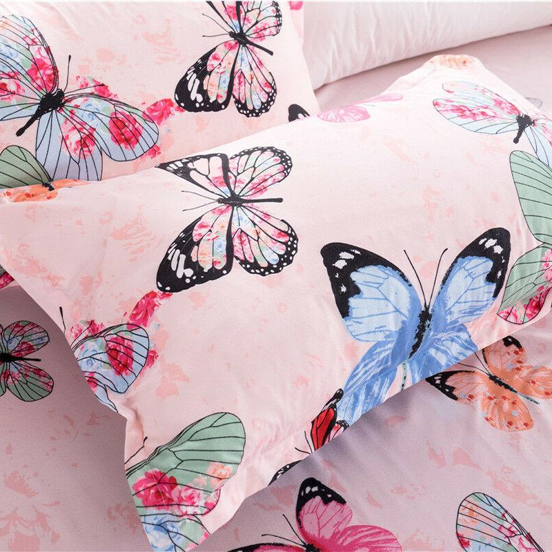 Butterfly Bedding Bed Cover+Sheet+Pillow Four-Piece