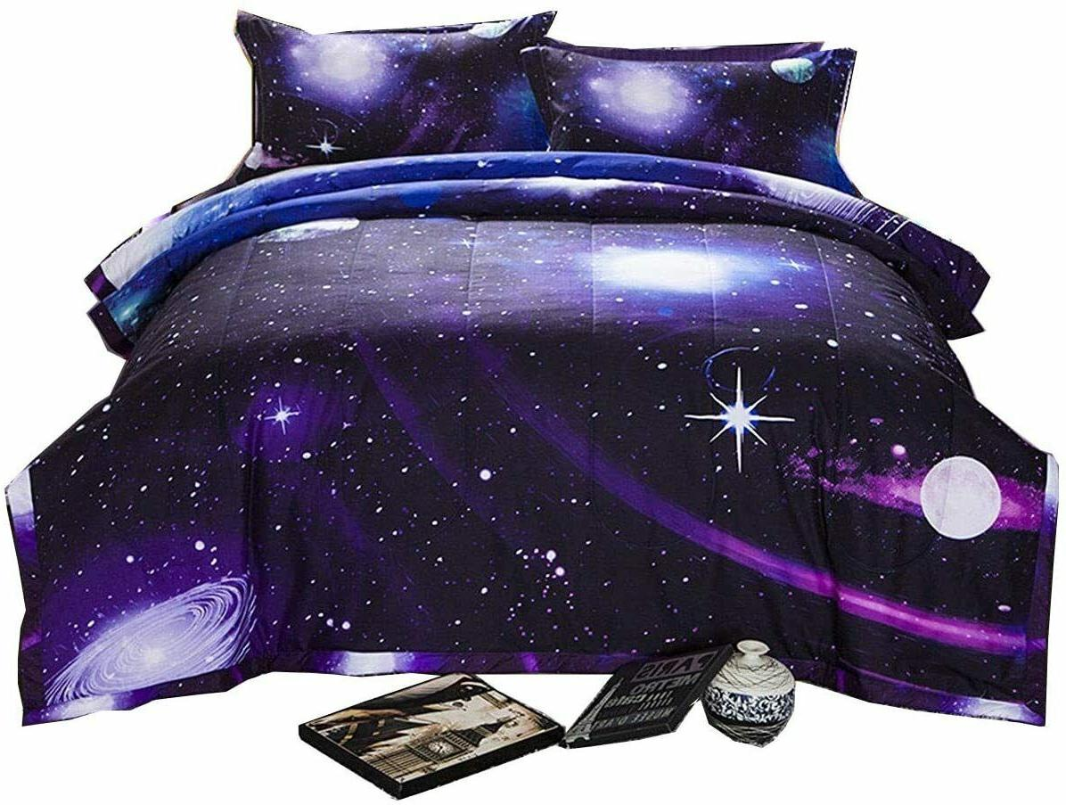 Comforter W/ 2 Matching Pillows Hypoallergenic Bedding Sets