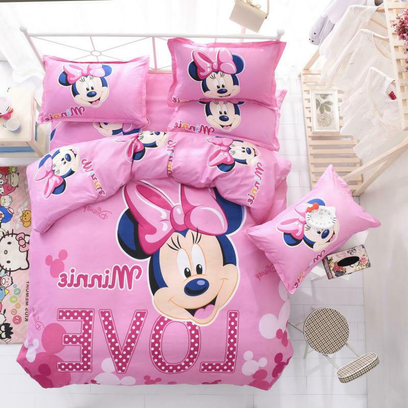 disney pink minnie mouse cartoon comforter cover