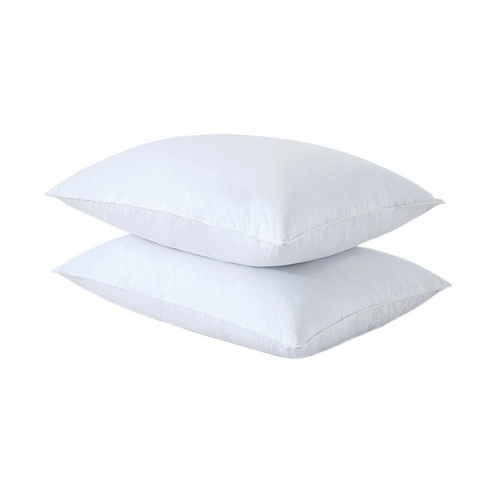 feather gray goose down bed pillow set