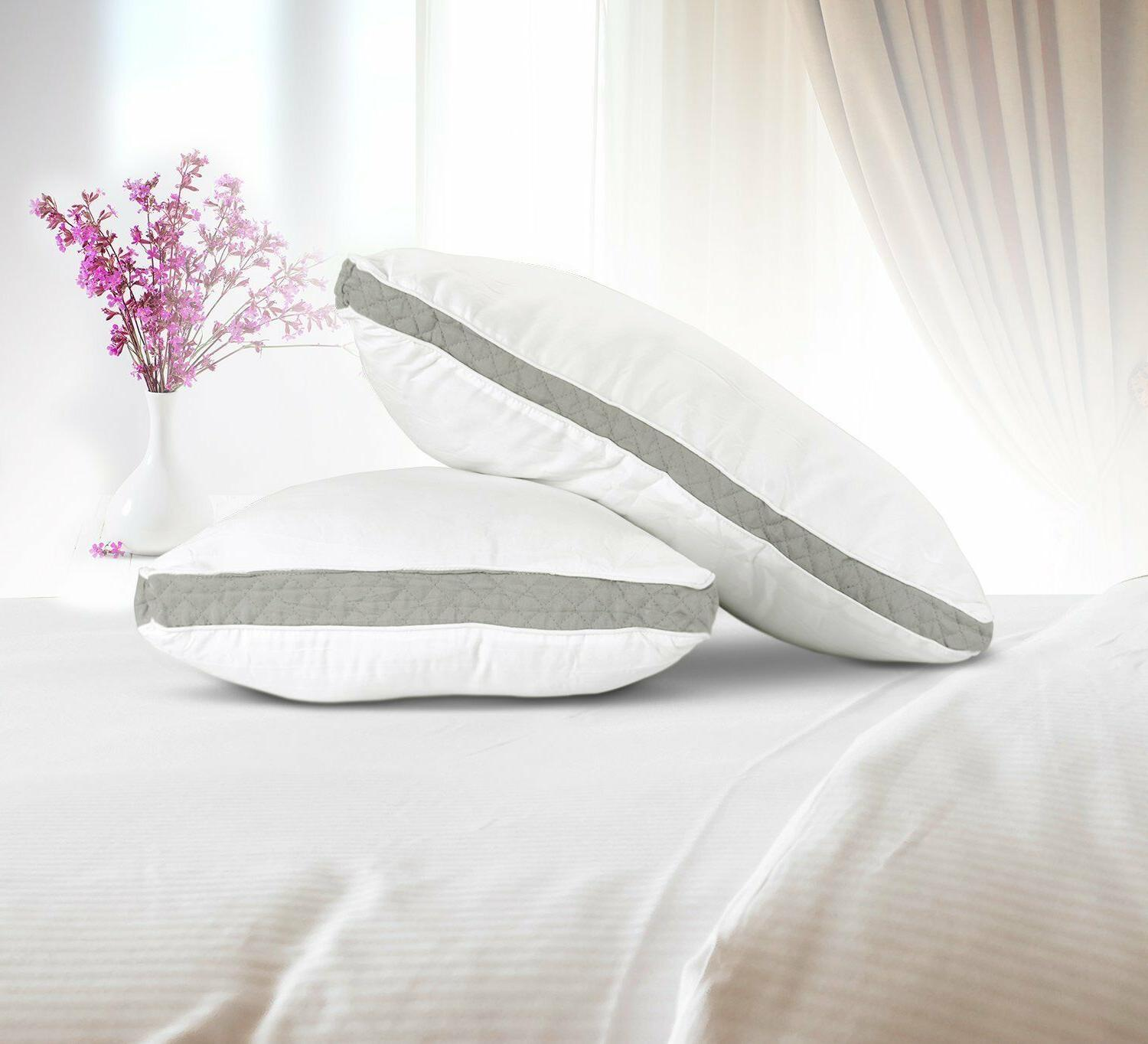 Gusseted Quilted of Bed Pillows Side Bedding