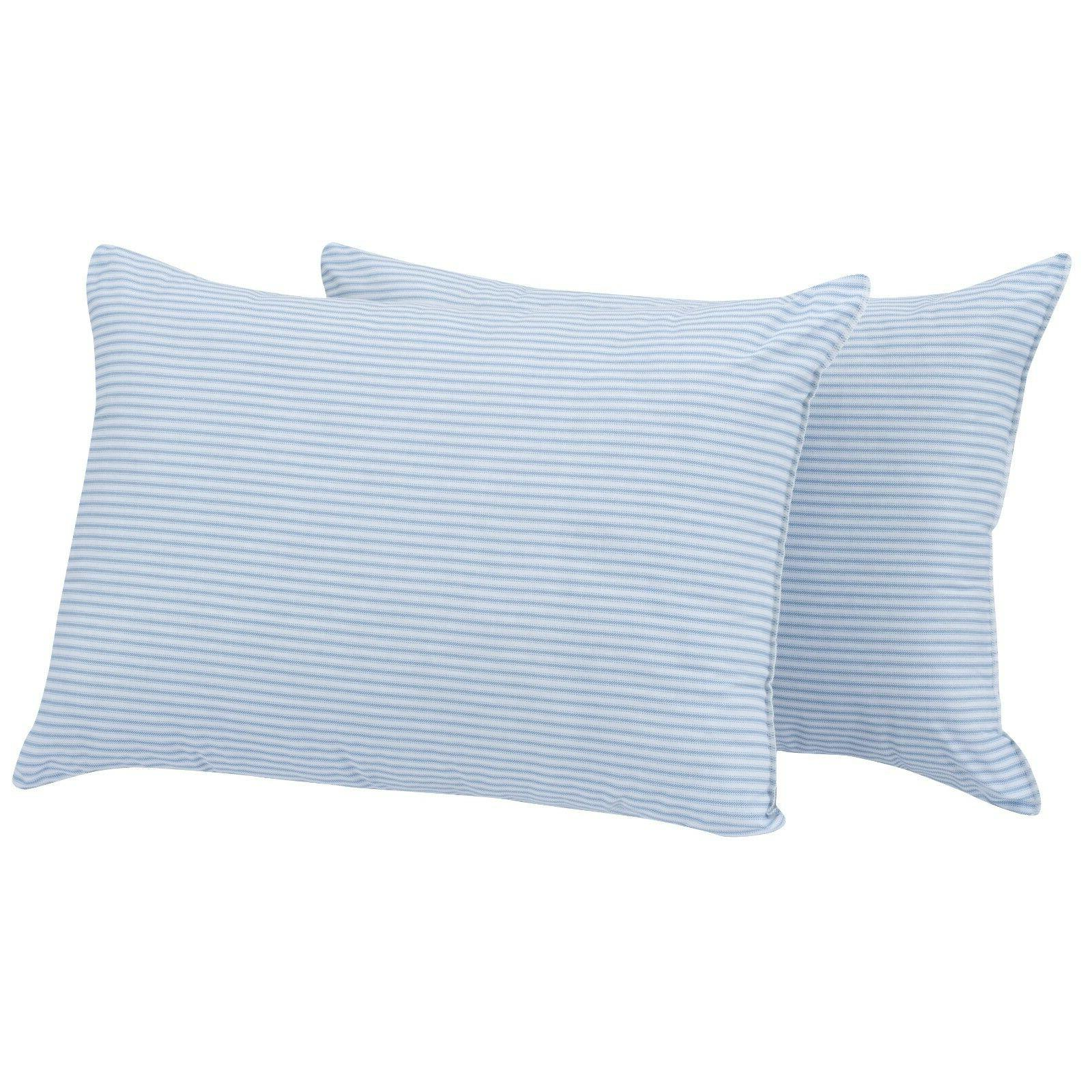Huge Pillows Large Bed Sleep Striped 2pk