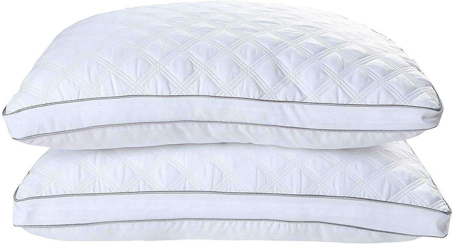 Hypoallergenic Quilted 2 Pack Firm Pillows