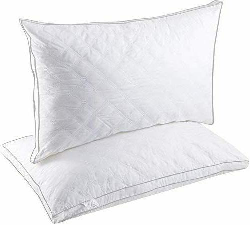 Hypoallergenic Quilted Pack Queen King Quilted Firm Pillows