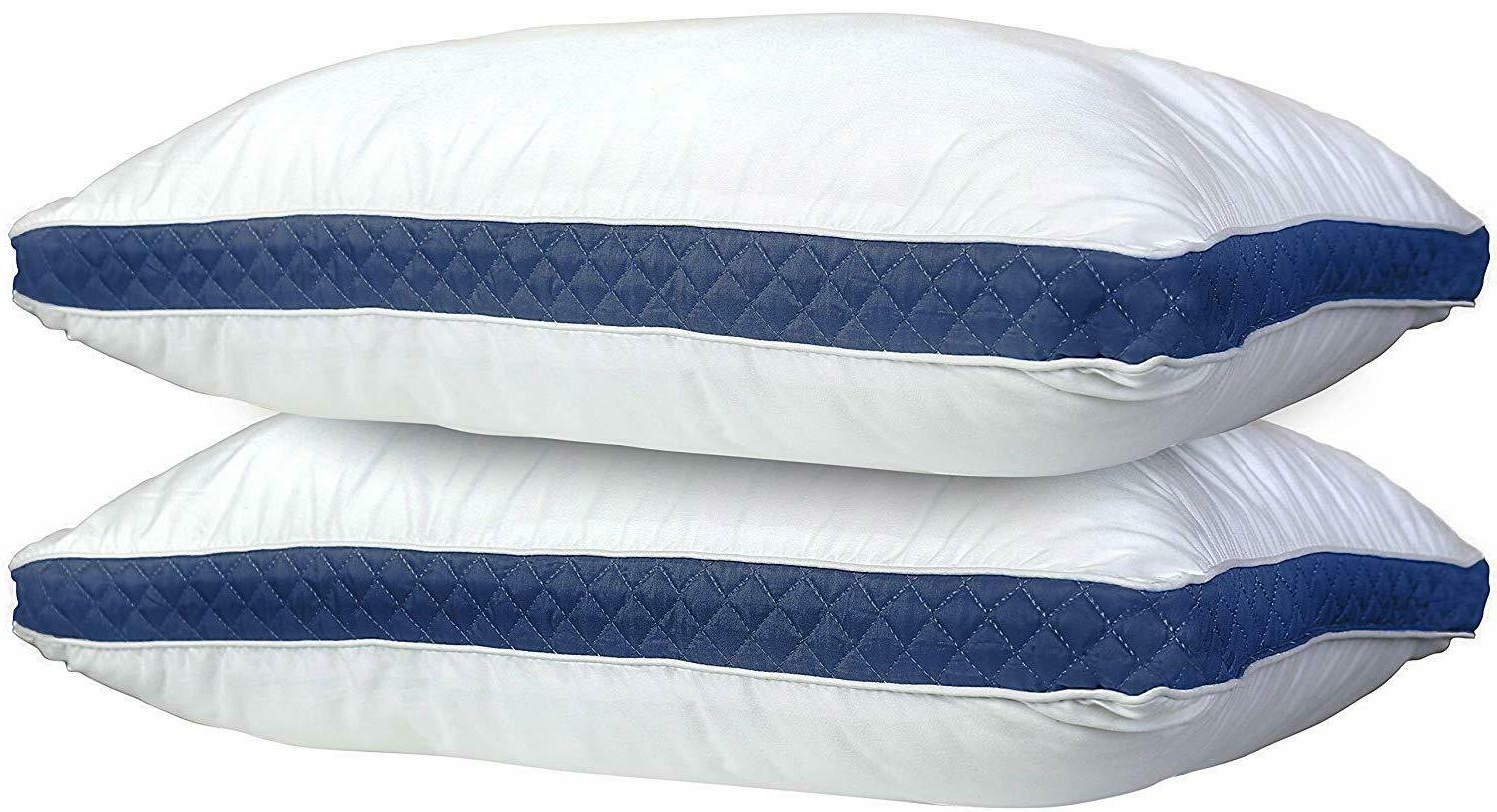Hotel Collection Bed Pillows Pack of 2 Firm Gusseted Pillow