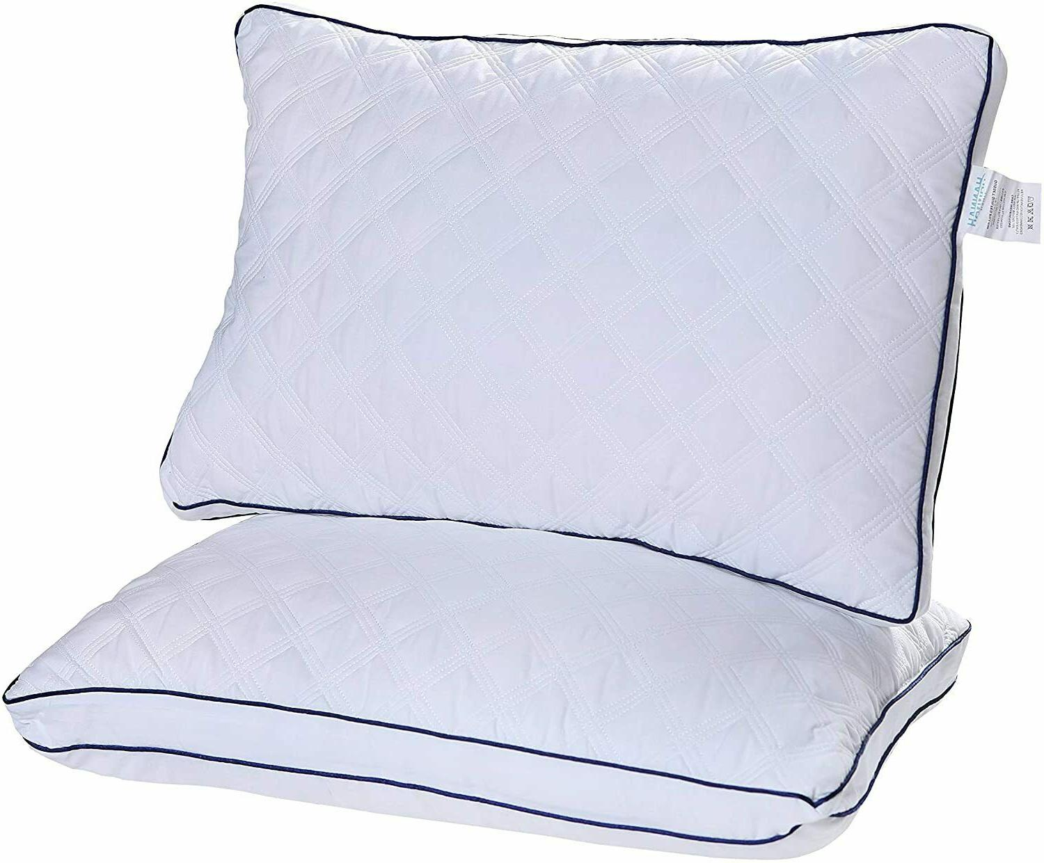 2 Pillows Ultra Gusseted Bed Pillows Side and Back