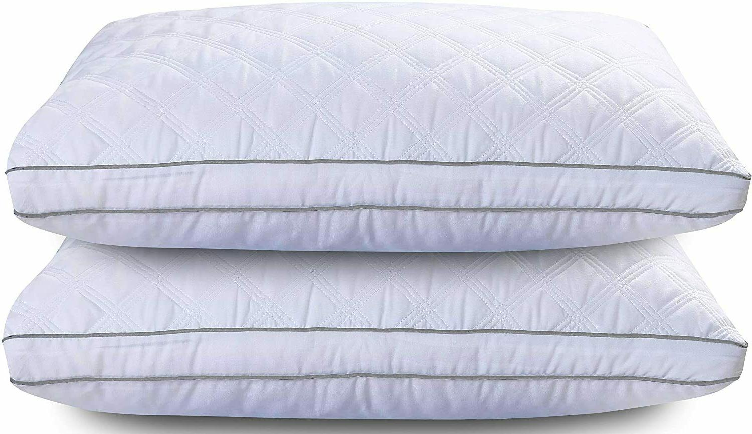 2 Pack Pillows Ultra Bed Pillows for Back Sleepers