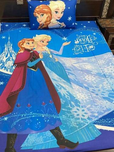 kids disney frozen bedding with one pillow