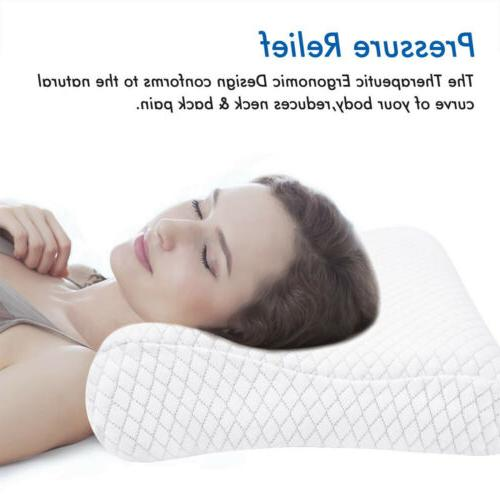 Memory Foam Pillow Contour Orthopedic Neck Support Breath