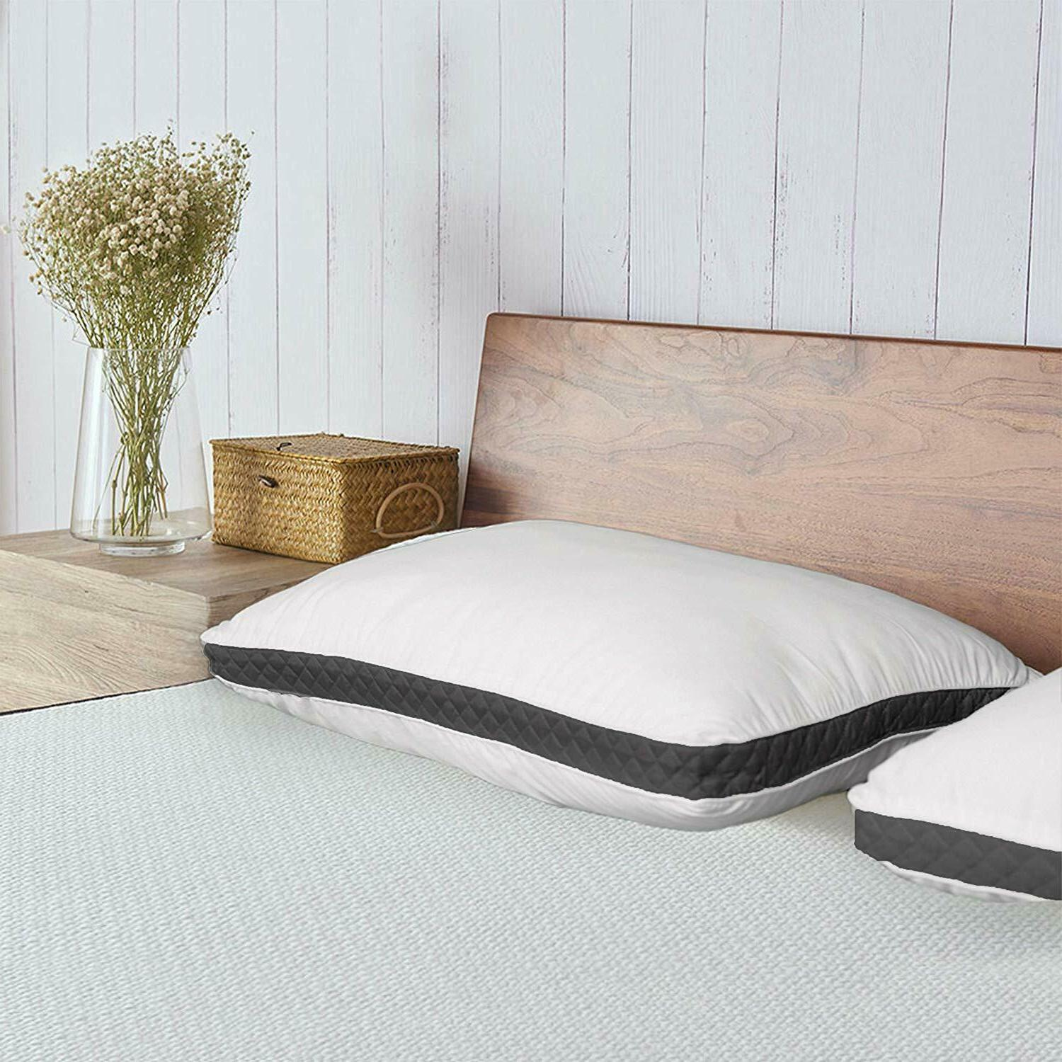 Gusseted Quilted Back Sleepers Set 2 Queen King Size