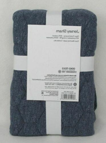 New Standard Jersey Sham Room Essentials Quilted Knit