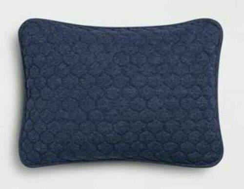 new standard jersey pillow sham navy quilted
