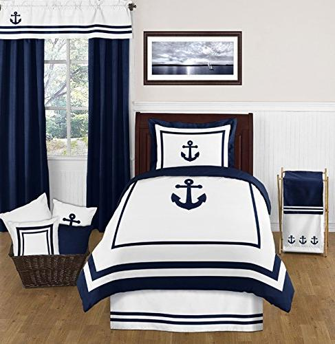 Sweet Pillow for and White Anchors Away Nautical Bedding