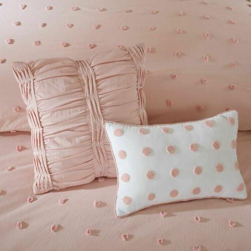 Pink Tufts Comforter AND Decorative Pillows - SIZES