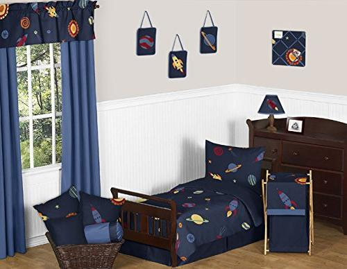 Sweet Galaxy Rocket Length Double Pillow Case Cover