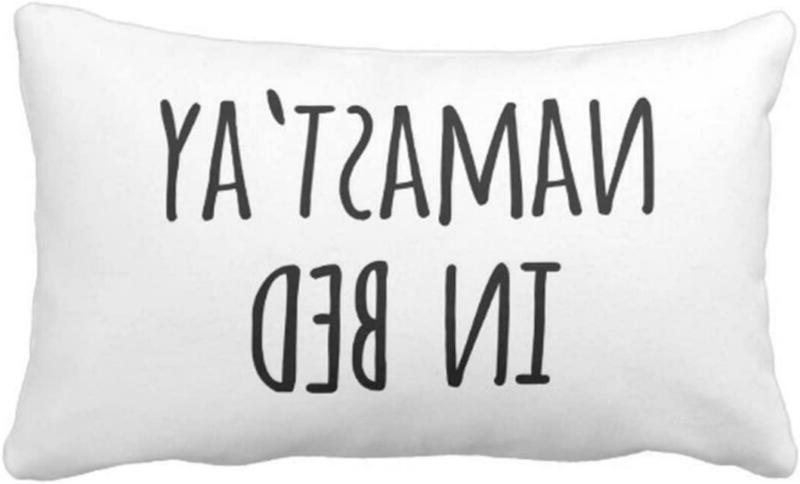 throw pillow cover funny typography saying namastay