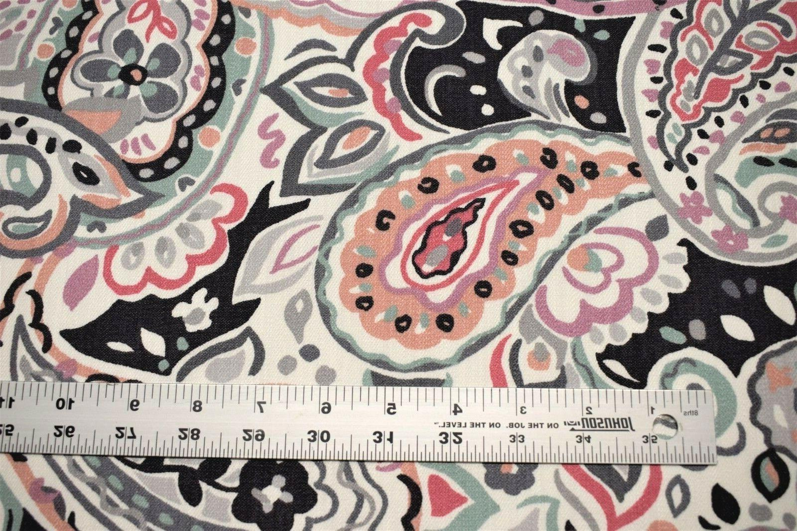 """Upholstery Drapery Paisley Floral Cotton Blend Fabric Decorative 55""""W"""